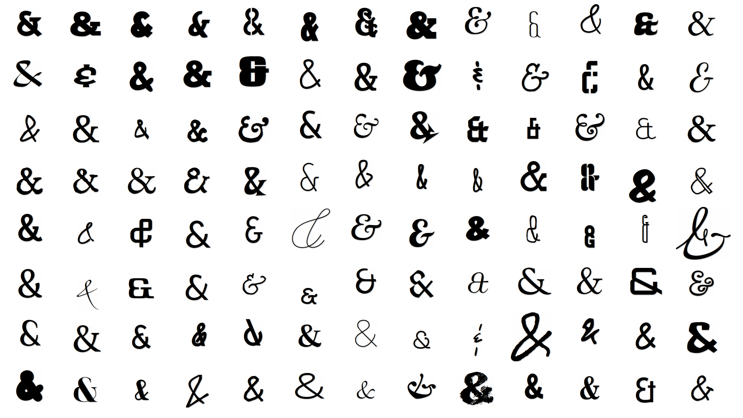 Open source ampersands for the true ampersand aficionado i now offer desktop wallpapers in a variety of sizes biocorpaavc Choice Image
